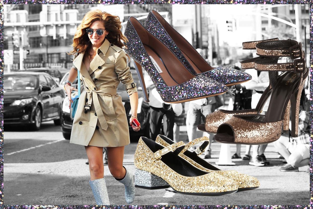 Collage glitter
