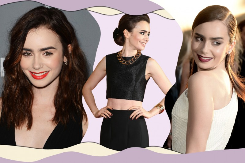 Lily Collins: gli hair look e le sue acconciature