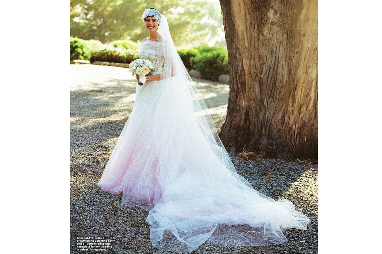 Anne Hathaway Wedding Valentino ok magazine BellaNaija013