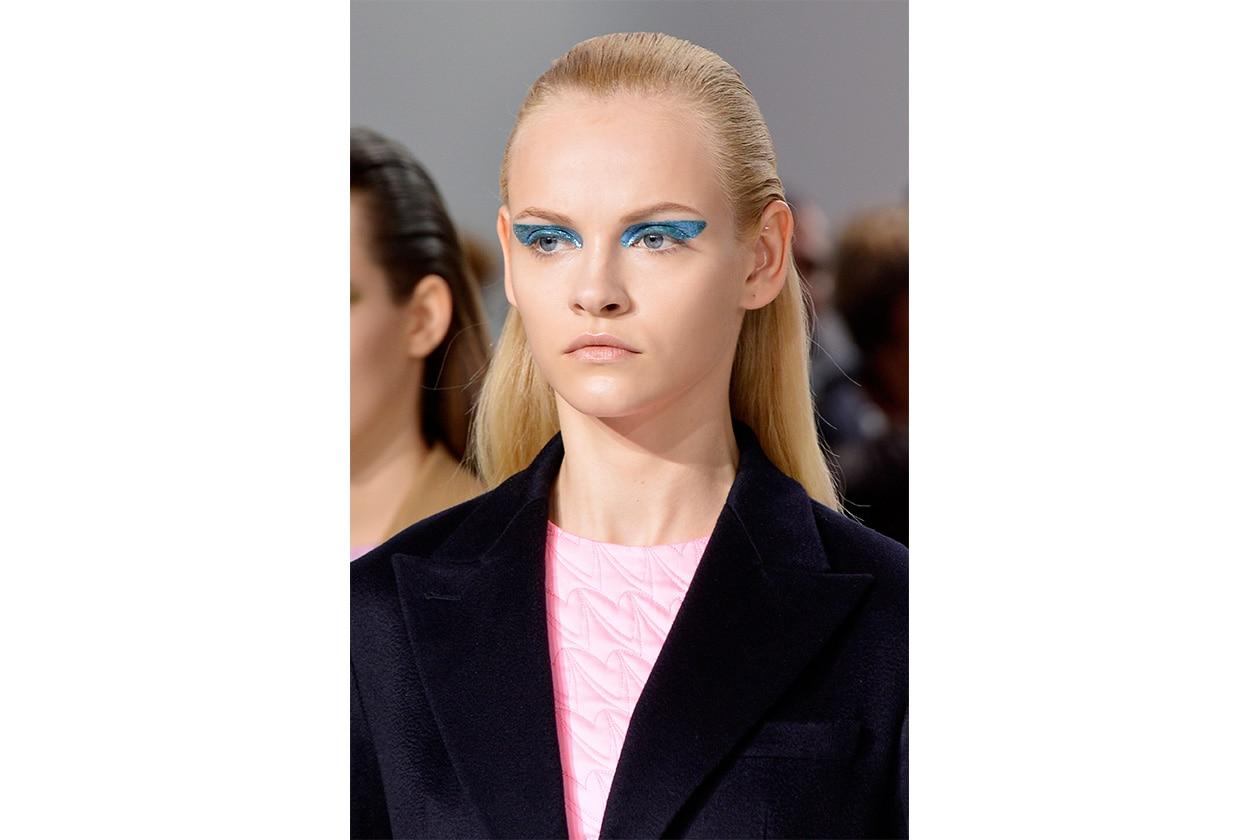 BEAUTY OCCHI DI GHIACCIO Make up occhi azzurro sfilata Christian Dior bty W F14 P 001