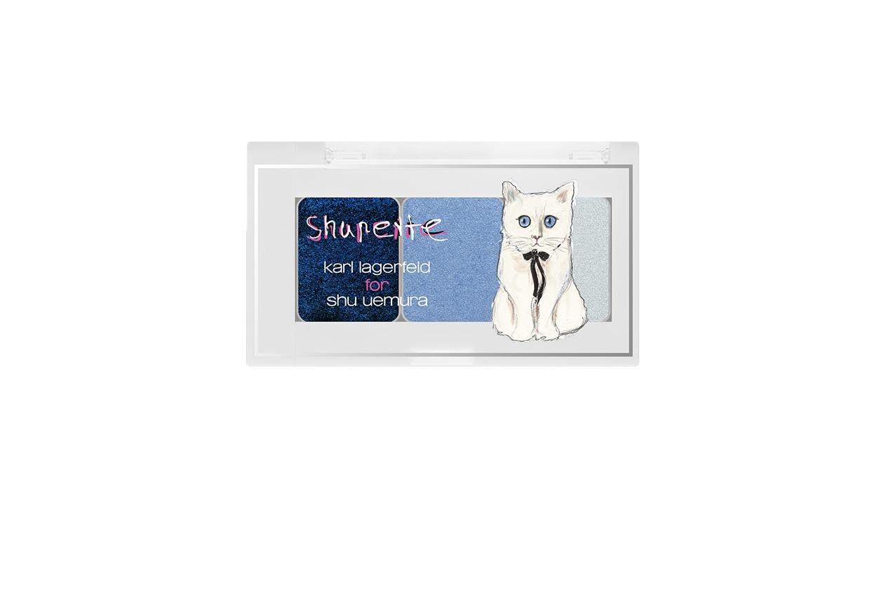 BEAUTY OCCHI DI GHIACCIO Make up occhi azzurro shu uemura Shupette by Karl Lagerfeld Eye Need Shu Trio Parisienne Chic