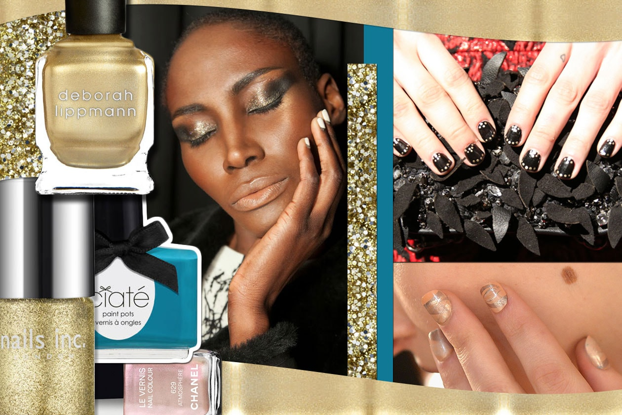 Beauty Gold Accents Nailart 00 Cover collage
