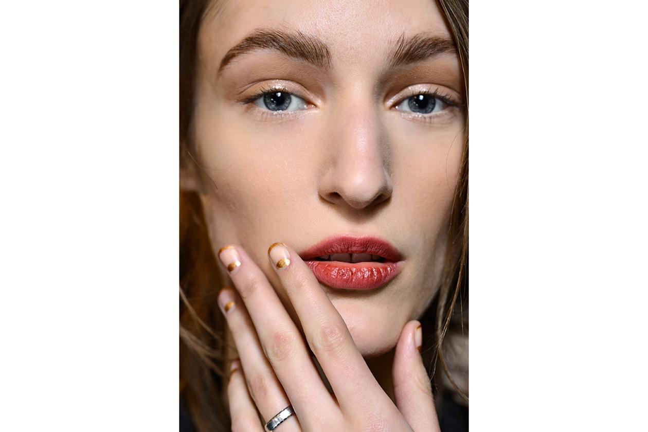 Beauty Gold Accents Nailart Beauty Gallery Recap Nailart AI oro Tadashi Shoji nls W F14 N 004