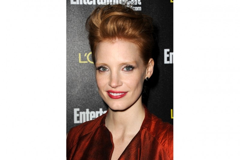 Chastain HOLLYWOOD CA JANUARY 29 Actress Jessica Chastain arrives at Entertainment WeeklyÂ's celebration honoring the 17th Annual Screen Actors Guild Awards