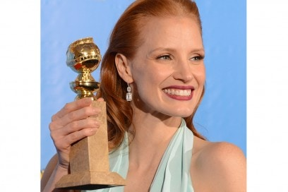 Chastain golden globes 2013