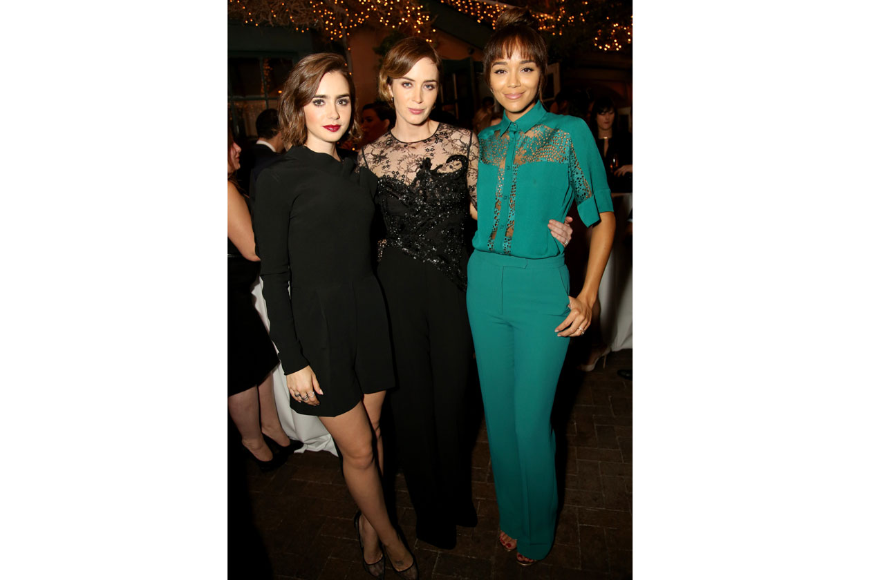 ELIE SAAB PRIVATE DINNER 13 11 2014 Emily Blunt & Lily Collins & Ashley Madekwe