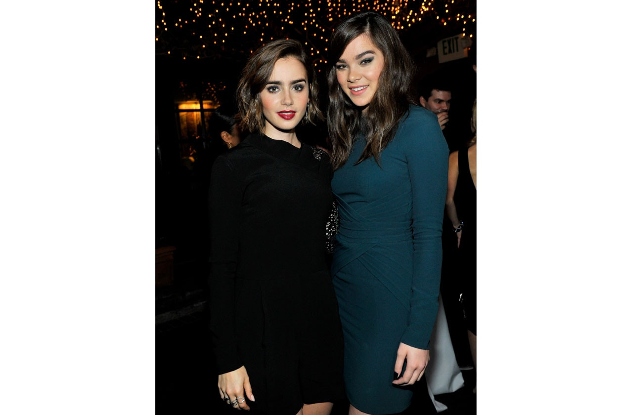 ELIE SAAB PRIVATE DINNER 13 11 2014 Lily Collins & Hailee Steinfeld