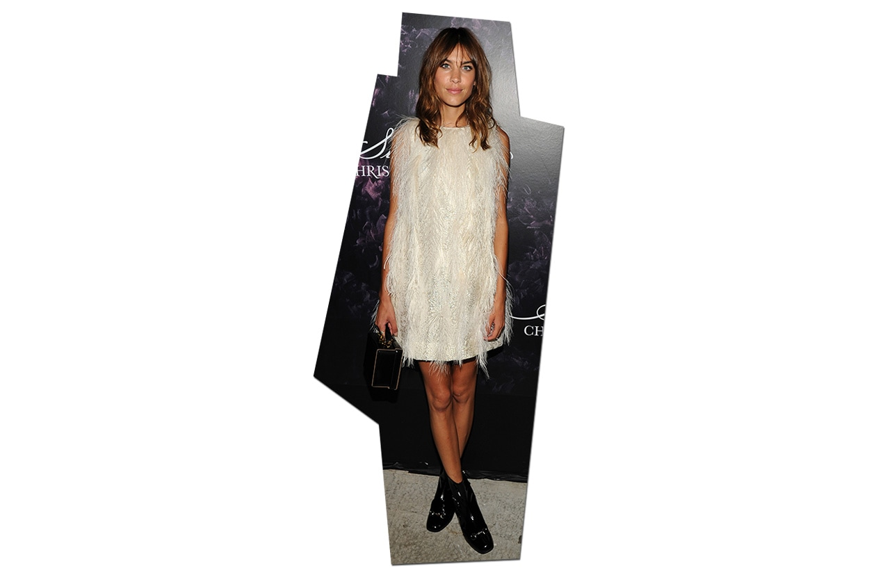 Fashion Get The Look Alexa Chung feather look 01 454570682
