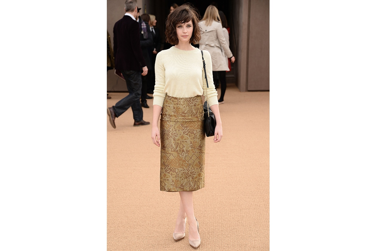 Fashion felicity jones Burberry Prorsum Prefall 2014