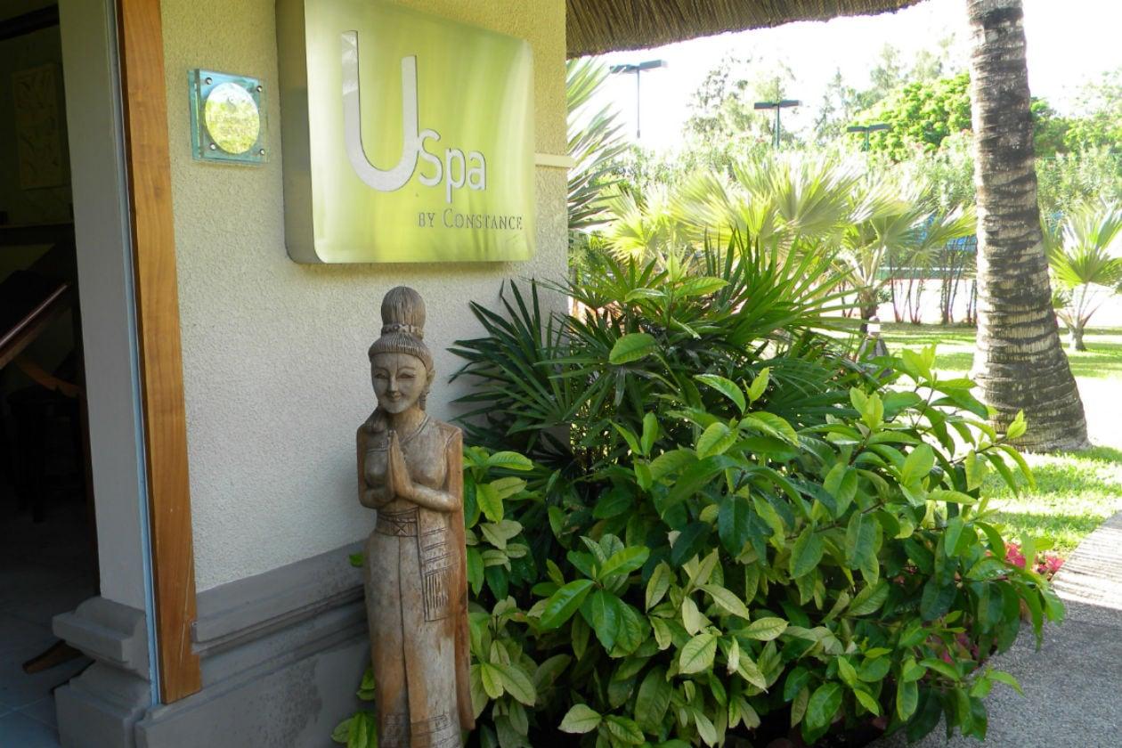 L'elegante U-Spa sorge in un angolo tranquillo dei giardini tropicali