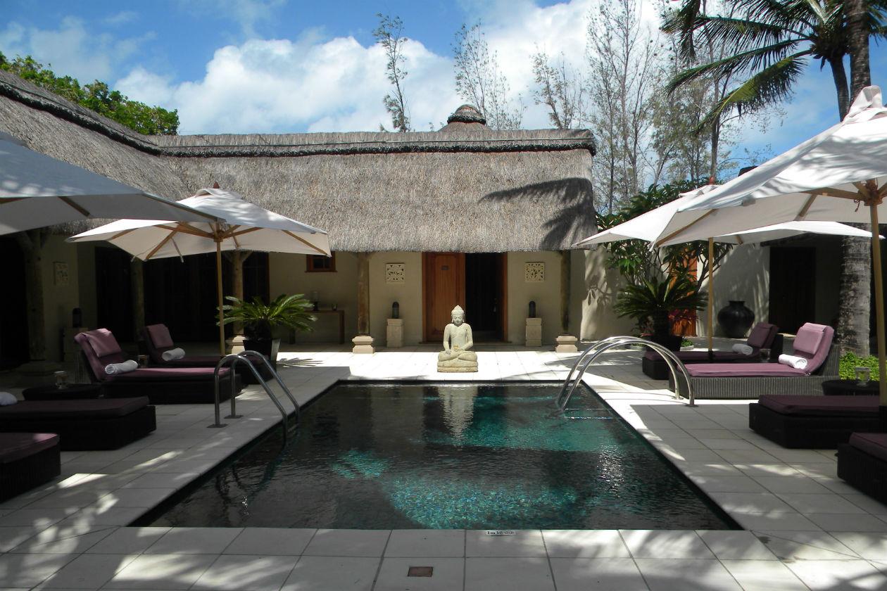 La piscina all'interno della U-Spa: tutto è progettato per garantire comfort, silenzio e tranquillità