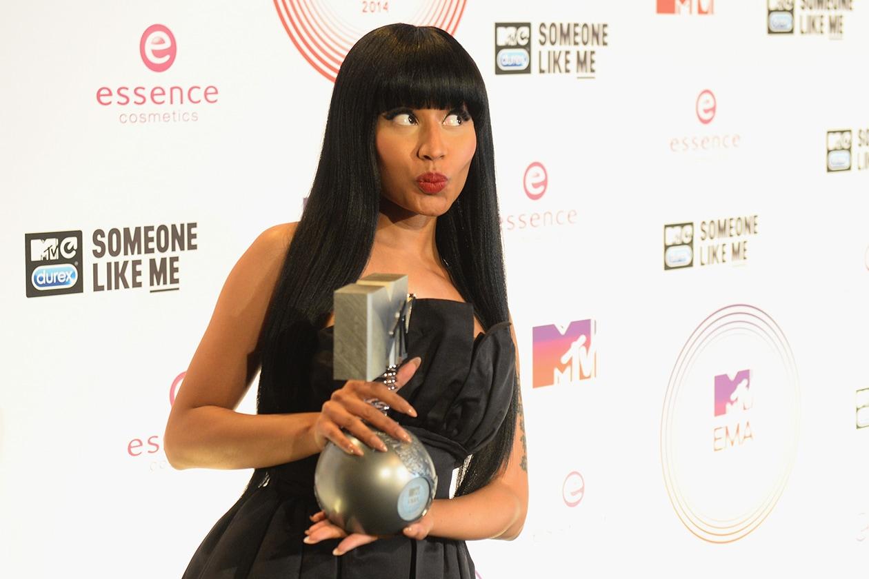 MTV EMA beauty look: Nicki Minaj rossetto rosso