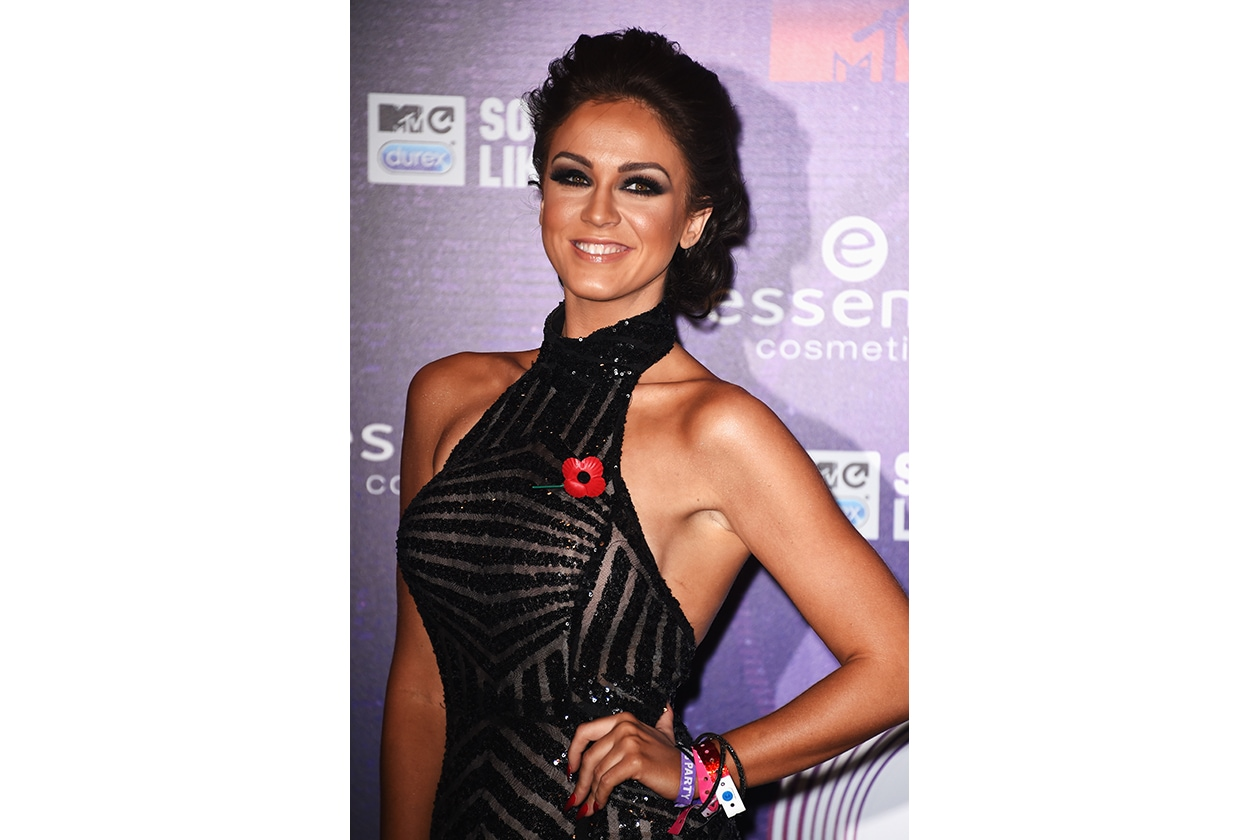 MTV EMA beauty look: Vicky Pattison dark smokey eyes