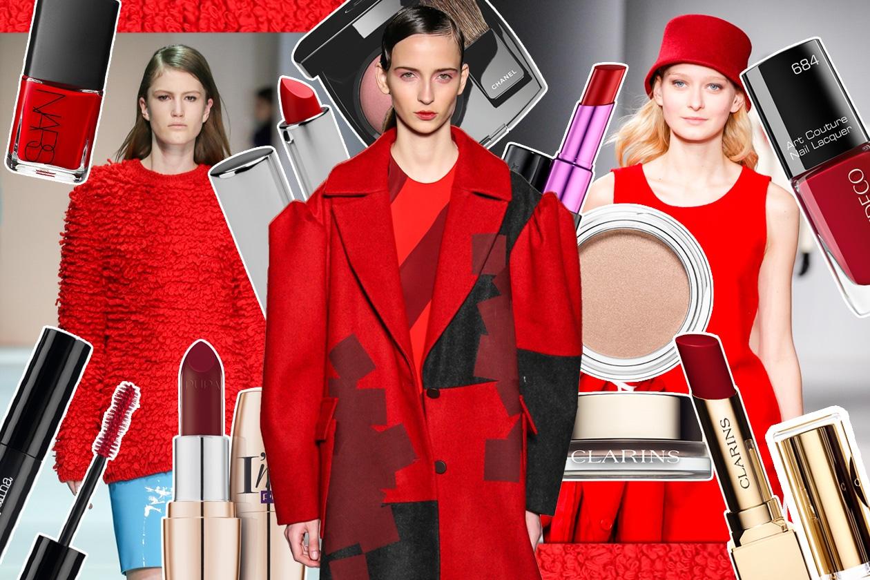 Make up rosso Aurora per l'autunno/inverno 2014-2015: gli abbinamenti beauty&fashion