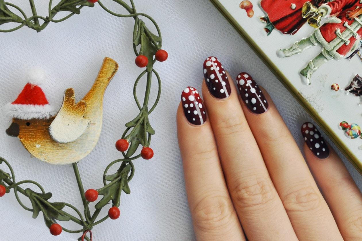 Nail Art delle Feste 2014-2015 – Let It Snow nails zoom
