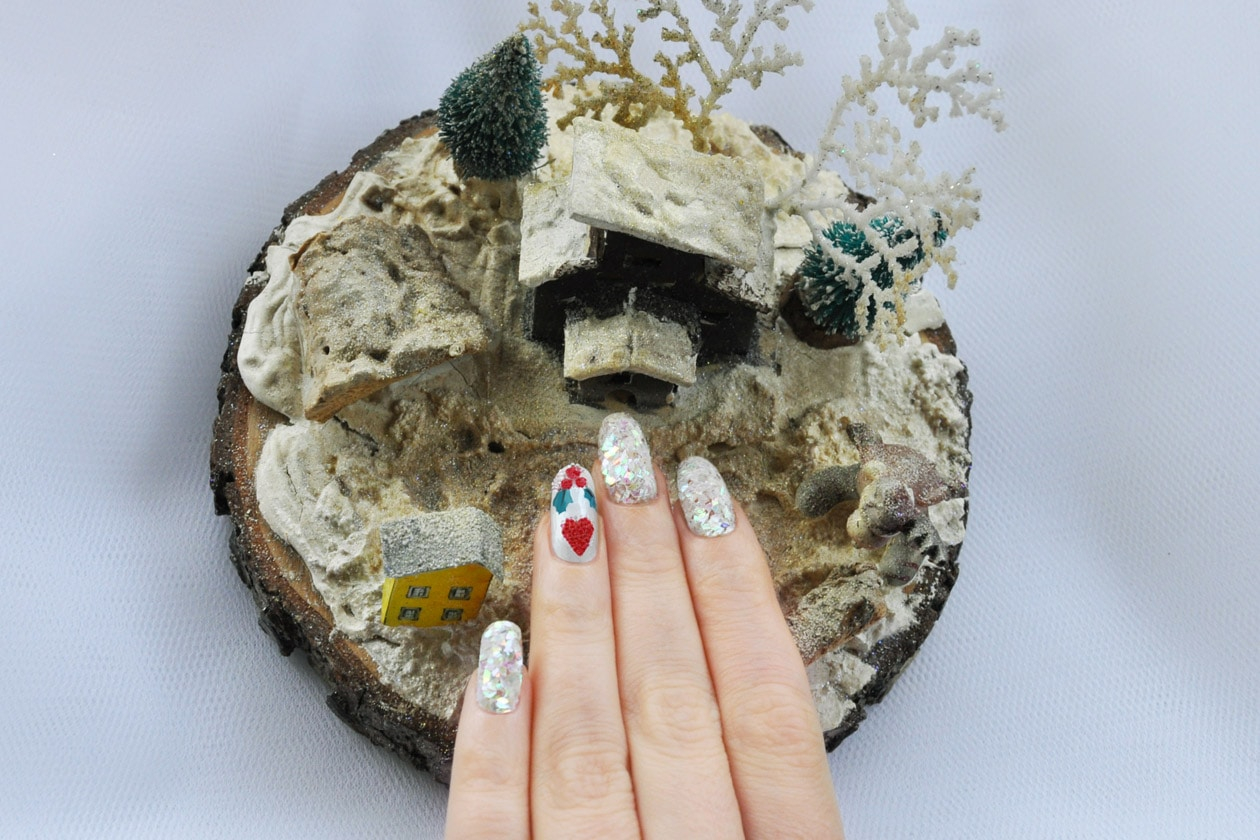 Nail Art delle Feste 2014-2015 – Winter Crystals nails