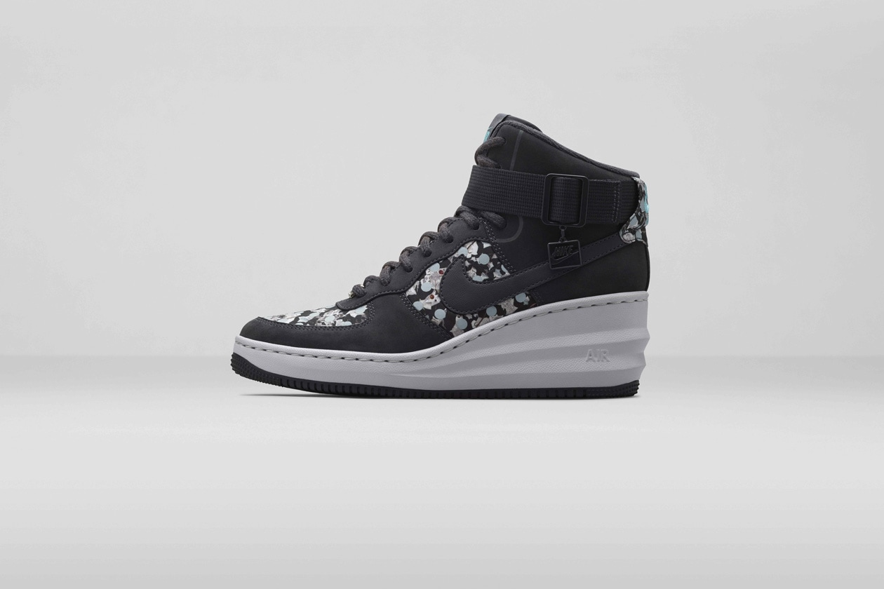 Nike x Liberty Lunar Force 1 Sky Hi Dark Ash original