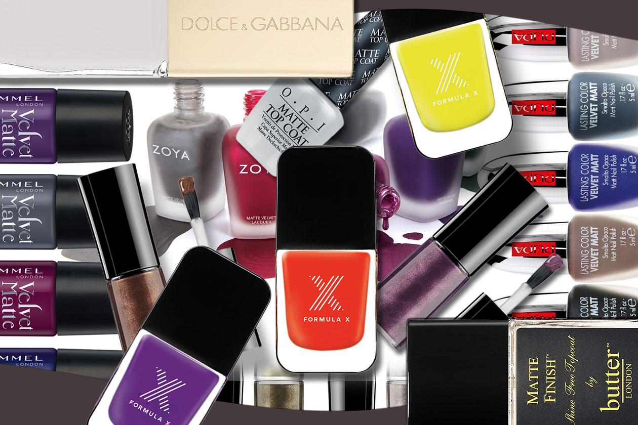 Smalti e top coat matte: unghie colorate e opache per l'autunno/inverno 2014-15. La selezione di Grazia.IT