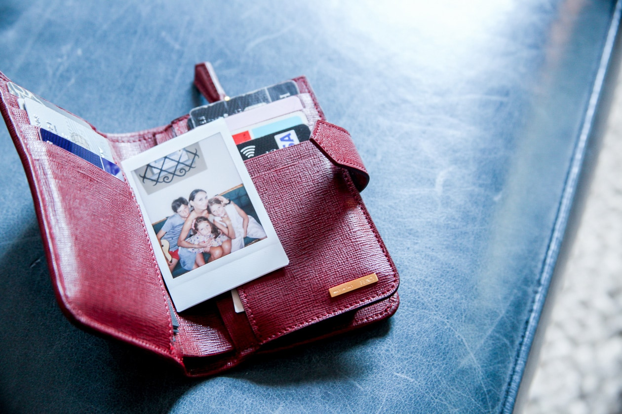 Tengo la foto dei miei figli sempre con me nel portafoglio