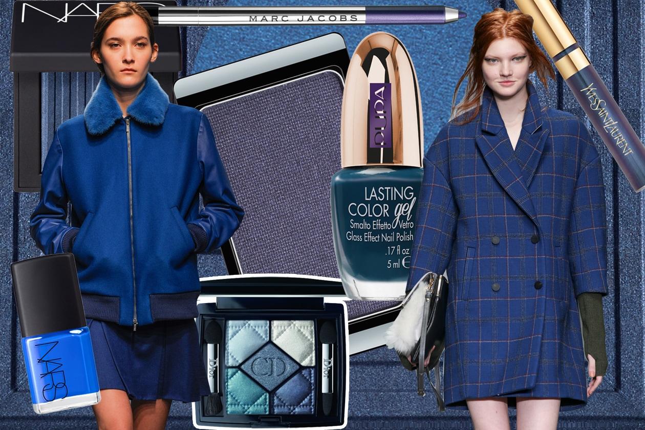 Trucco blu: gli abbinamenti beauty & fashion per l'Inverno 2015