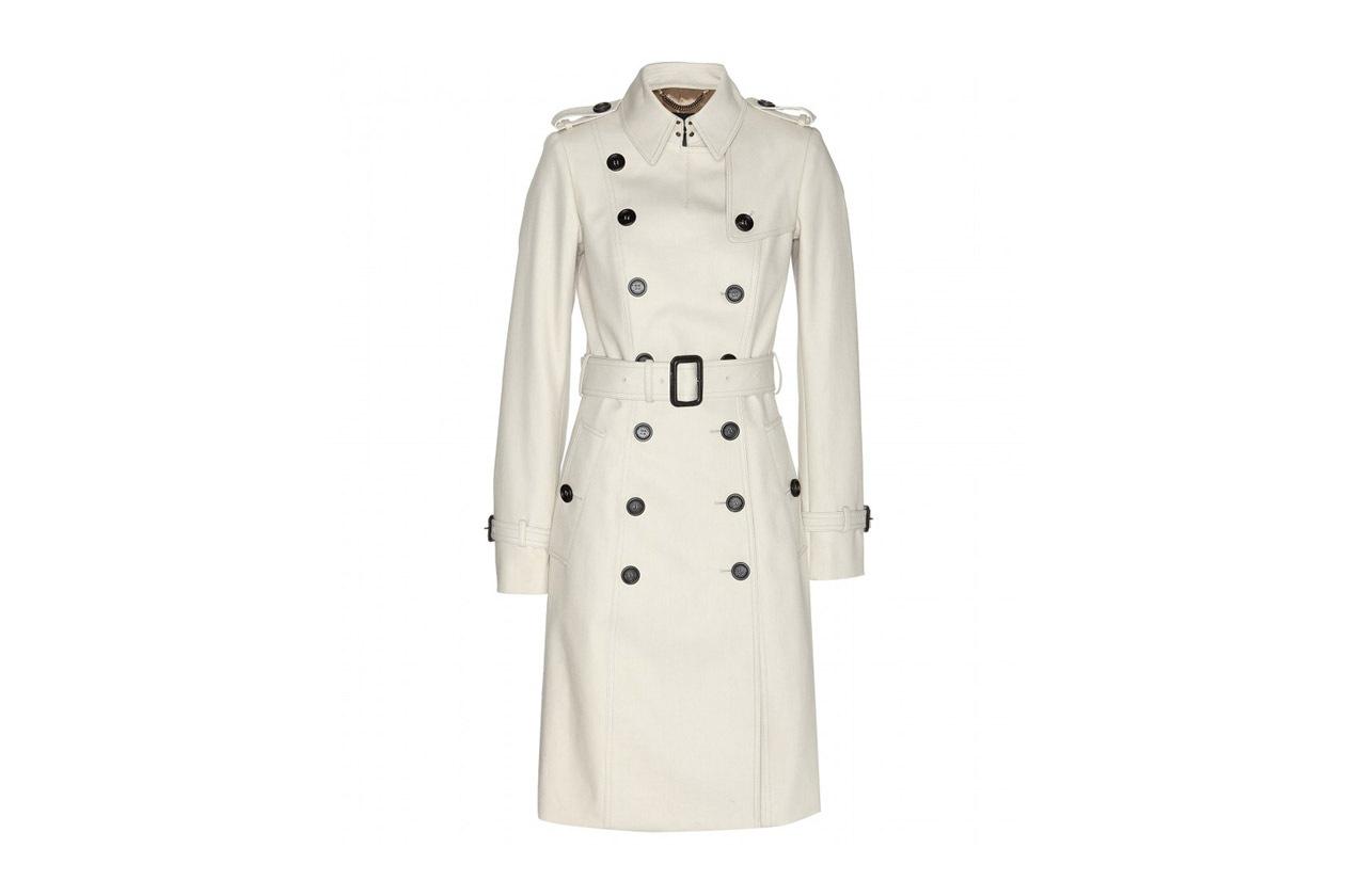Trucco minimal e trench: Burberry Prorsum Cotton Twill Trench Coat