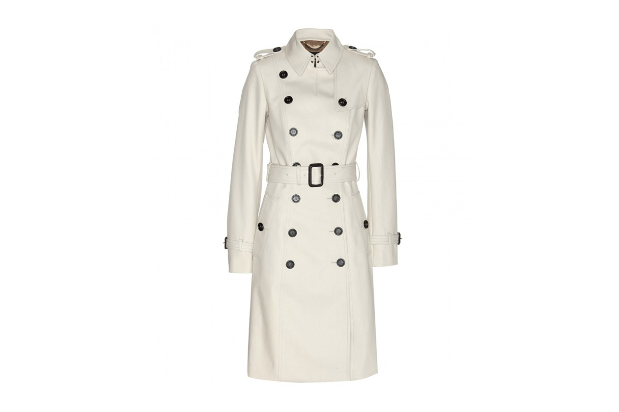 Trucco minimal e trench: Burberry Prorsum Cotton Twill Trench Coat