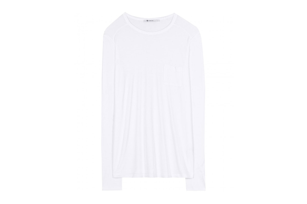 Trucco minimal e trench: T by Alexander Wang Classic Long Sleeved Top