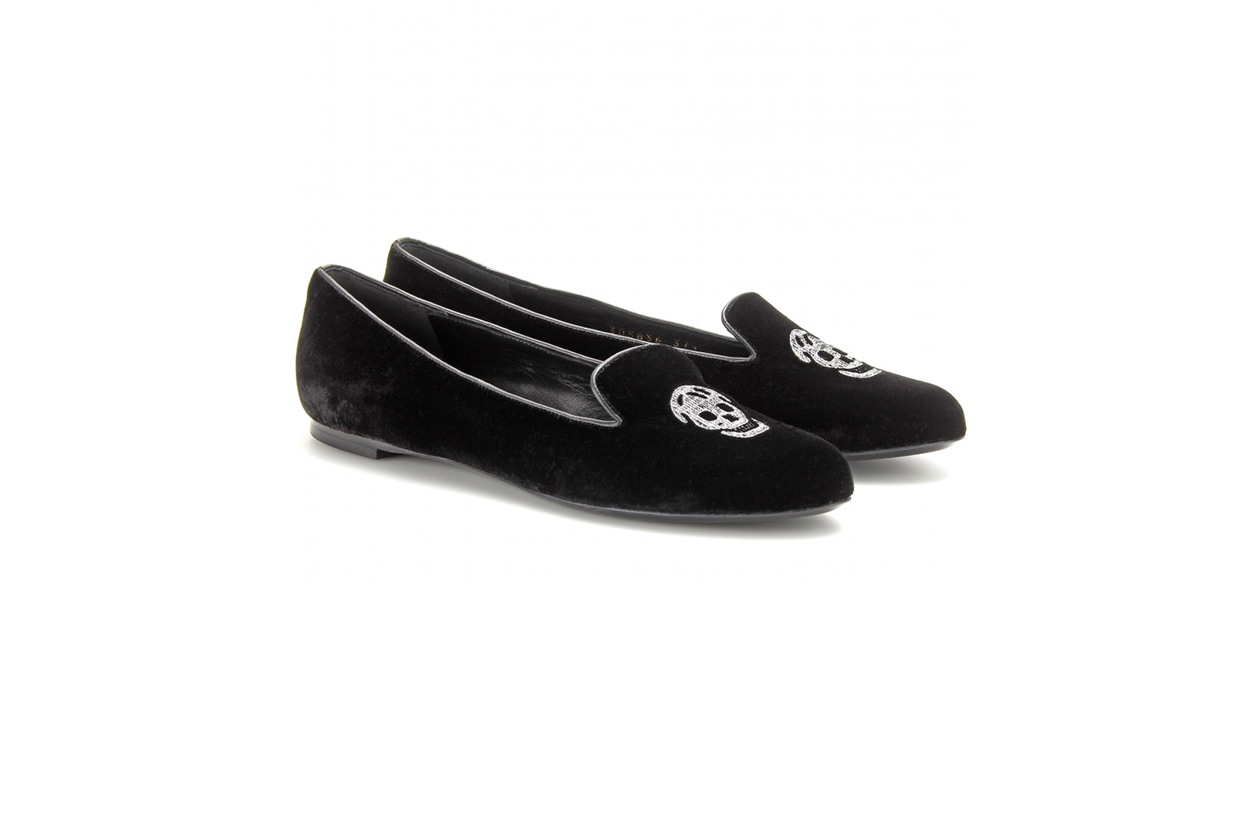 Fashion Velvet shoes alexandermcqueen