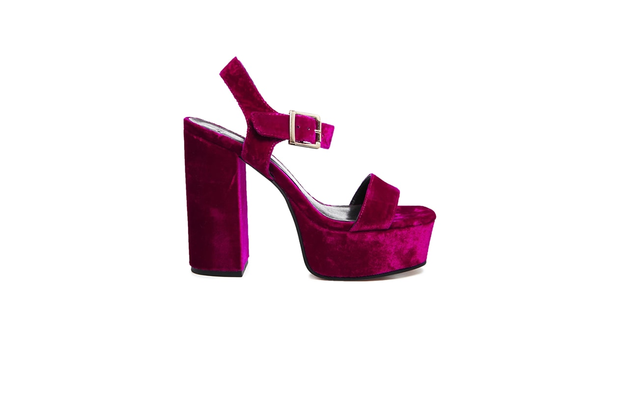 Fashion Velvet shoes asos tacco