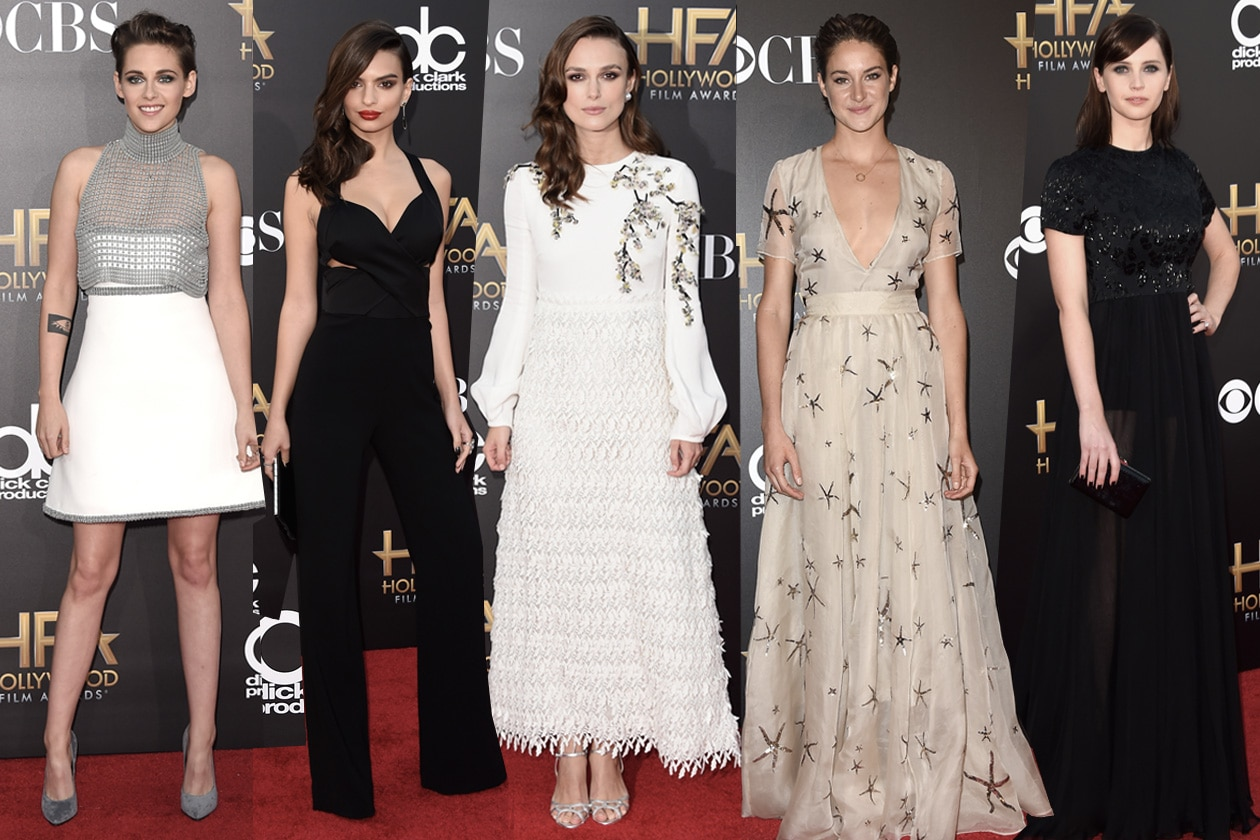 hfa cover Un red carpet in bianco, toni naturali oppure in total black!  Tutte le star agli Hollywood Film Awards