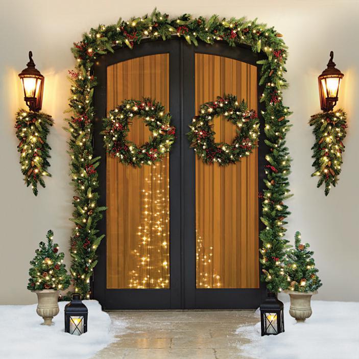 Una ghirlanda per decorare la casa per natale - Ghirlande natalizie per scale ...