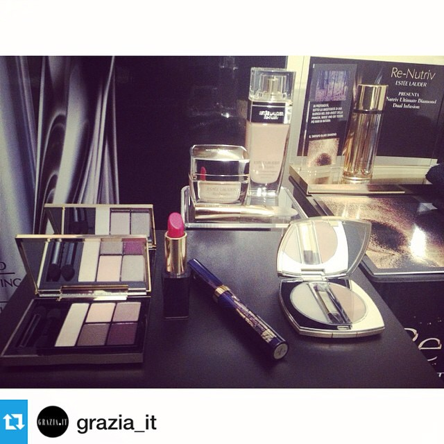 #Repost from @grazia_it— Estée Lauder Re-Nutriv Three minute Make up – Nelle Profumerie Limoni @limoniprofumi #grazia4renutriv #esteelauder