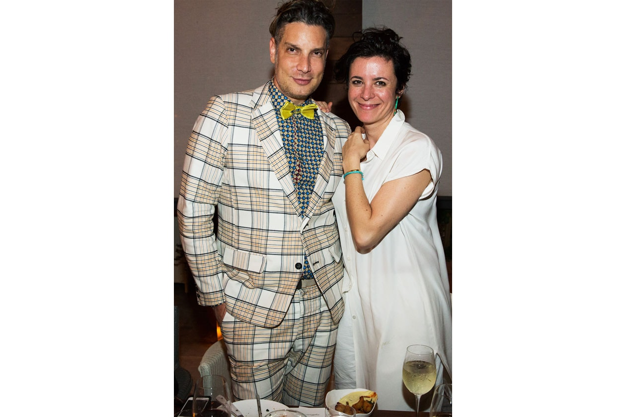 A24 Cameron Silver in Thom Browne and Garance Dore