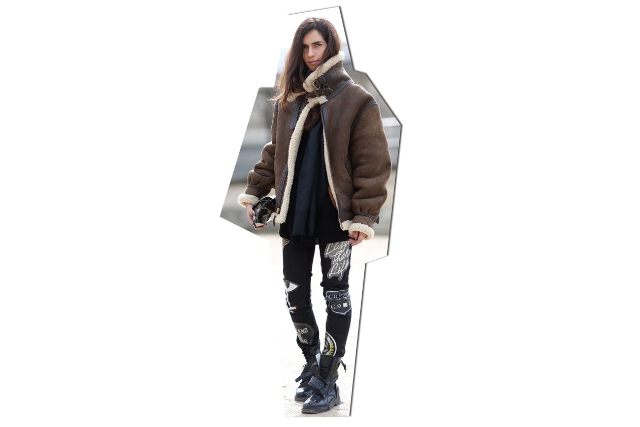 Aviator jacket on the streets