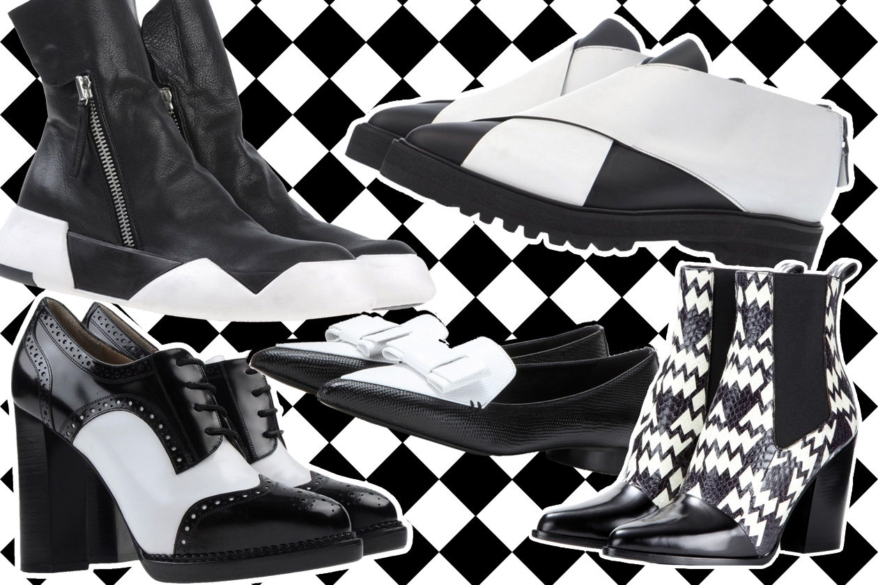 COVER Black White shoes