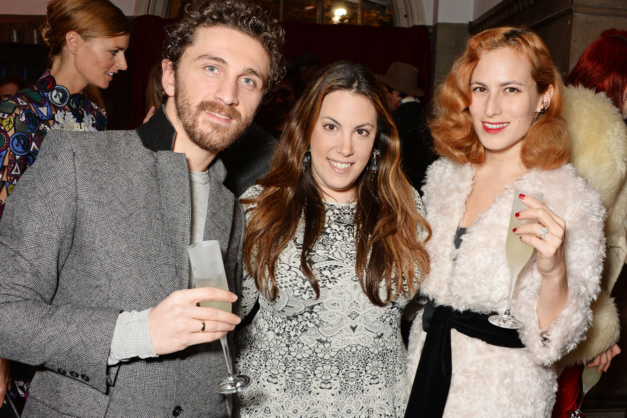 DMB BRITISH FASHION AWARDS NOMINEES DINNERDavid Koma, Red Carpet Designer nominee Mary Katrantzou and Accessory Designer nominee Charlotte Dellal of Charlotte Olympia