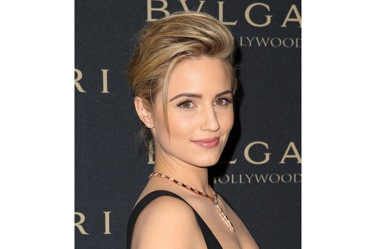 Dianna Agron beauty look: labbra delicate