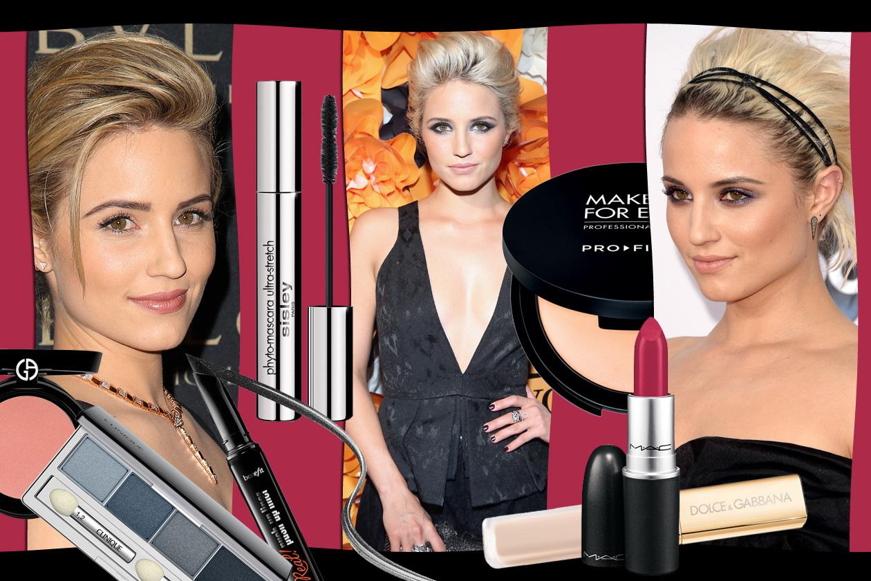 Dianna Agron beauty look: smokey eyes intensi e labbra rosate