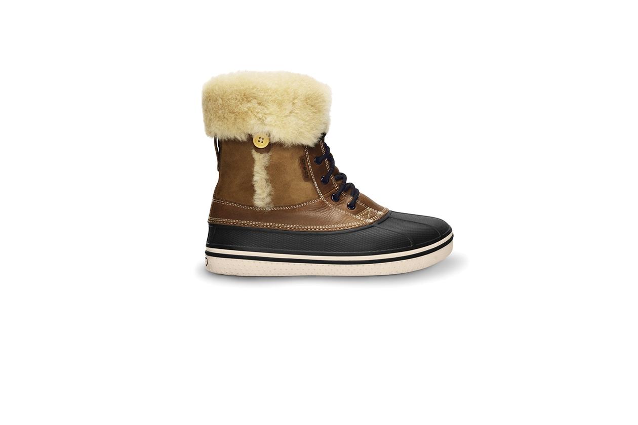 FASHION Stivali da montagna crocs~SIDE~AllCast Duck Luxe Boot Toffee^Stucco