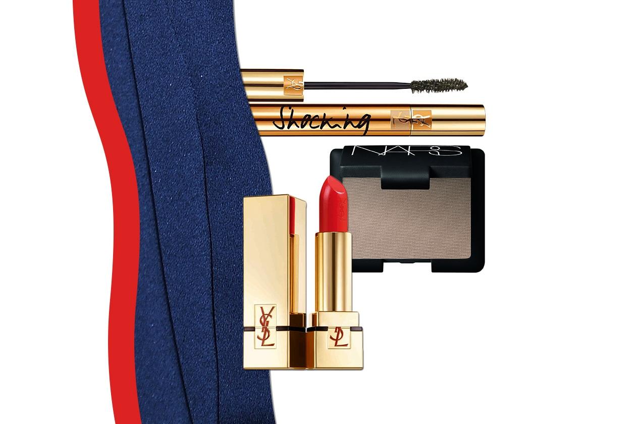 Focus sulle labbra rigorosamente rosso fuoco ( Yves Saint Laurent – Nars)