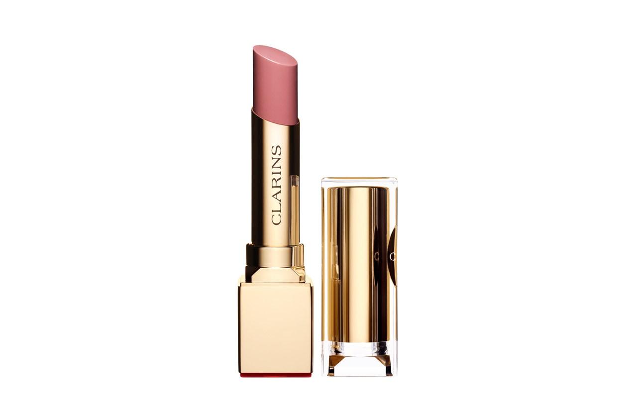 Gigi Hadid beauty look: Clarins Rouge Eclat in Sweet Rose