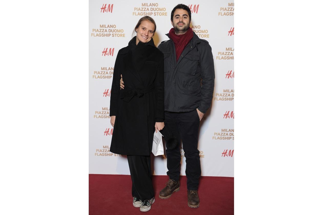 HM Milano Duomo 10 dicembre 2014 Lola Toscani; Niccolï Bagnati