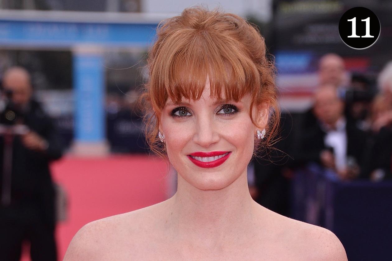 I beauty look più belli del 2014 – La frangia di Jessica Chastain