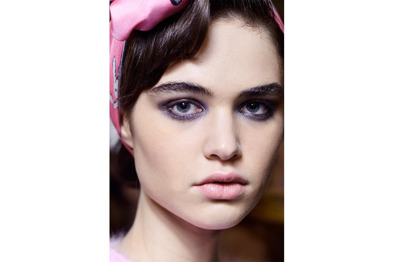 Il make up della sfilata Olympia Le Tan AI 14-15