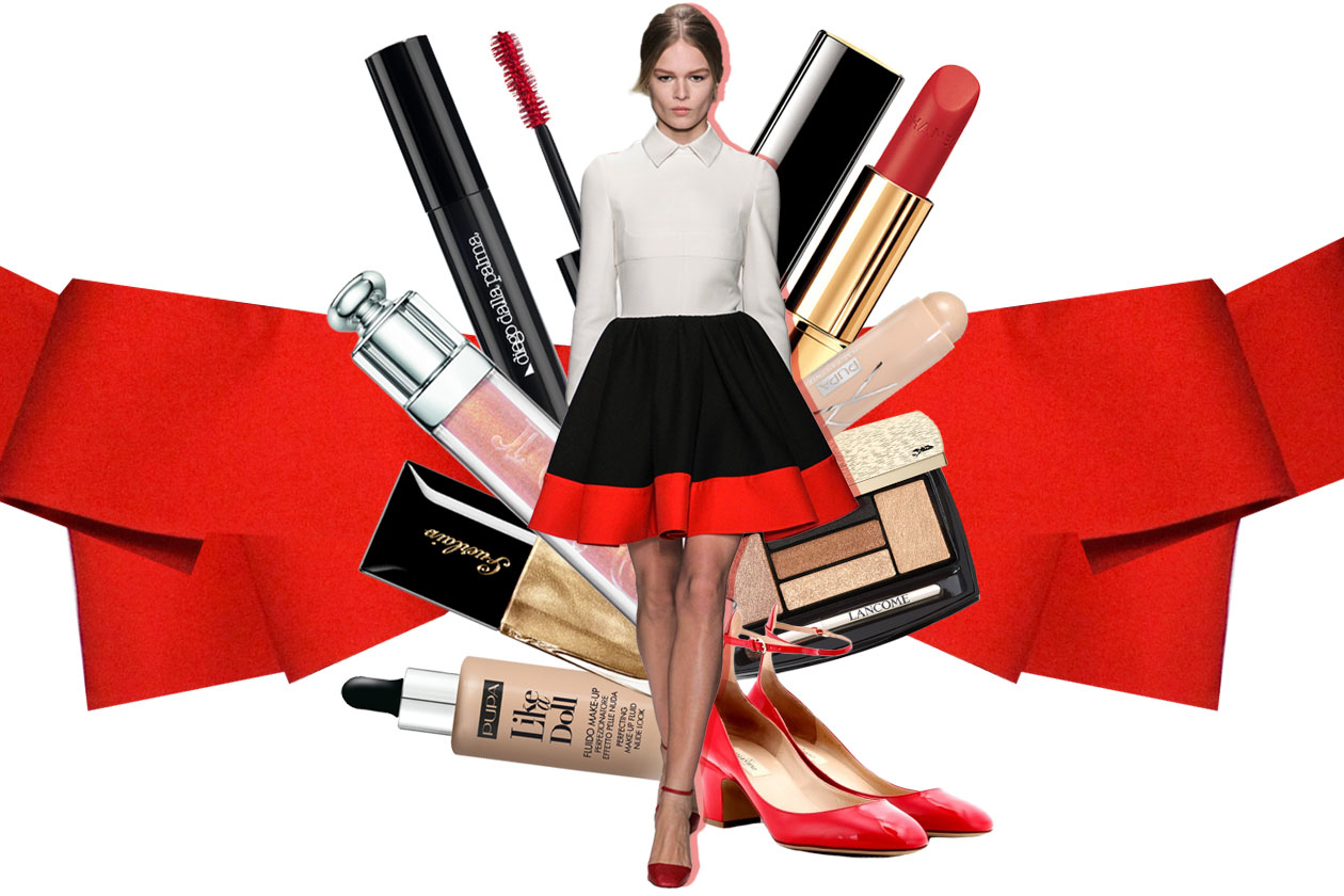 Il trucco per le feste abbinato al vestito Valentino: il beauty look proposto da Grazia.IT