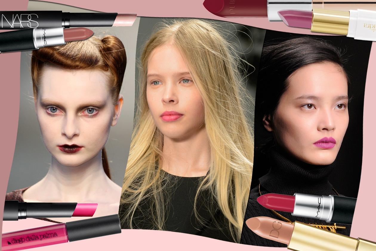 Labbra opache: è la tendenza make up dell'inverno 2015. Scoprite come riprodurla con i rossetti selezionati da Grazia.IT
