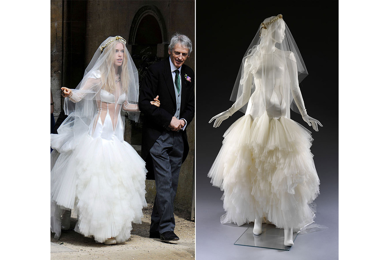 charteris weds in an cutaway bridal gown by pam hogg, charteris weds ...