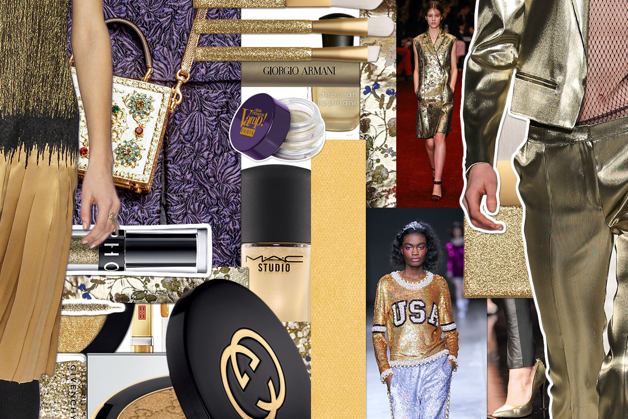 Make up oro per l'autunno/inverno 2014-15: gli abbinamenti beauty&fashion di Grazia.IT