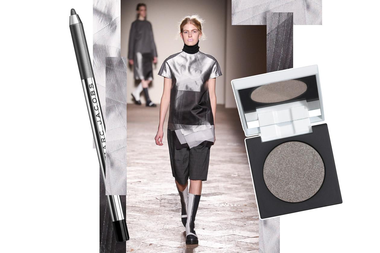 Metallic make up: black and silver