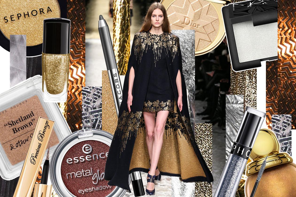 Metallic make up: gli abbinamenti fashion & beauty
